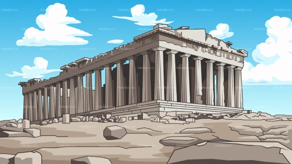 The parThenon background in 16:9 aspect ratio. PNG - JPG and vector EPS file formats (infinitely scalable).