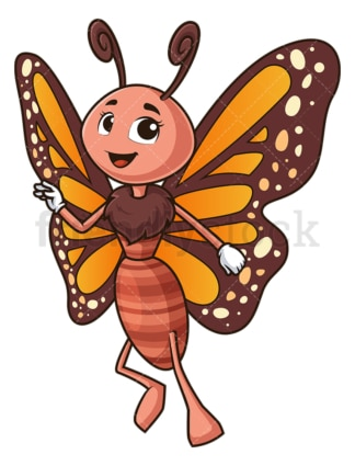 Cute butterfly flying. PNG - JPG and vector EPS (infinitely scalable).