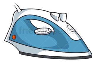 Electric iron. PNG - JPG and vector EPS file formats (infinitely scalable). Image isolated on transparent background.