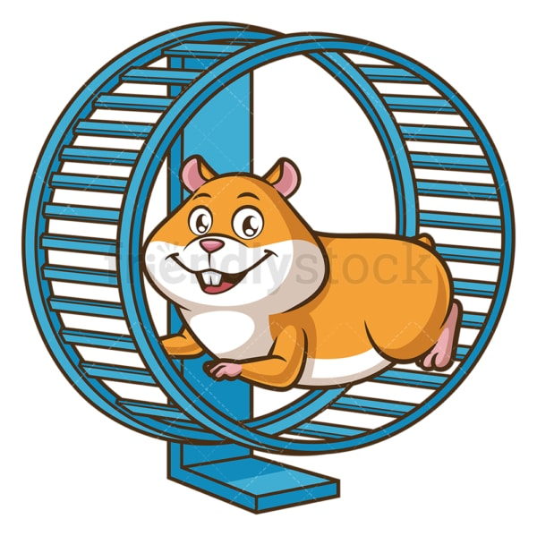 Hamster running on wheel. PNG - JPG and vector EPS (infinitely scalable).