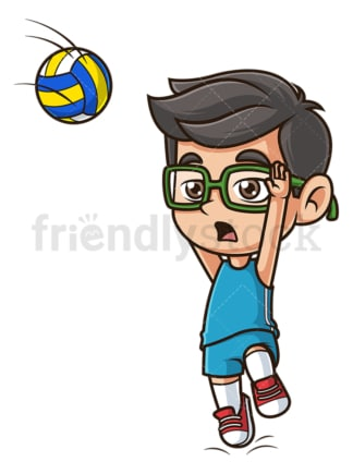 Kid playing volleyball. PNG - JPG and vector EPS (infinitely scalable).
