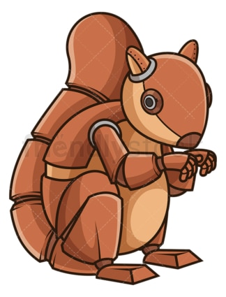 Mechanical squirrel robot. PNG - JPG and vector EPS (infinitely scalable).