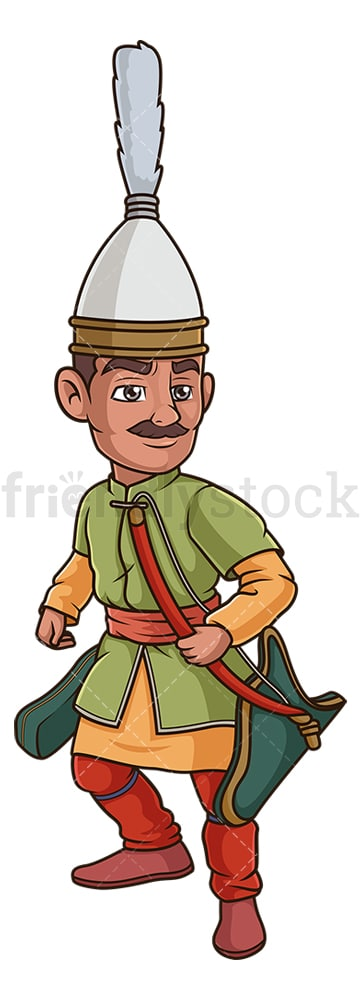 Ottoman turk archer. PNG - JPG and vector EPS (infinitely scalable).