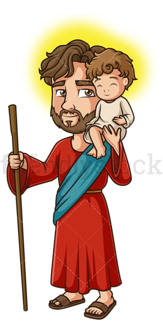 Saint christopher. PNG - JPG and vector EPS file formats (infinitely scalable). Image isolated on transparent background.