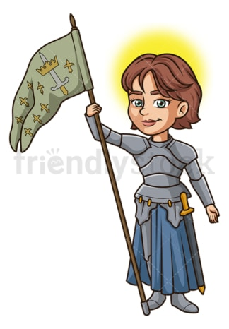 Saint joan of arc. PNG - JPG and vector EPS file formats (infinitely scalable). Image isolated on transparent background.