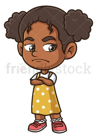 Angry black girl. PNG - JPG and vector EPS (infinitely scalable).