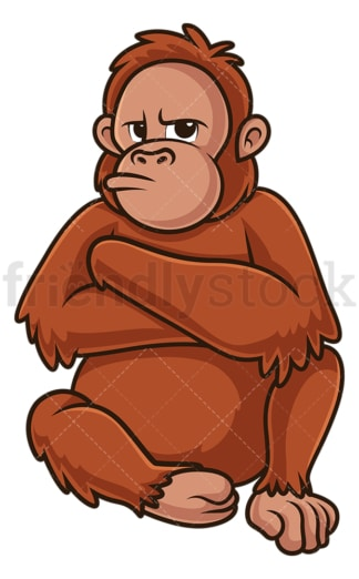 Angry orangutan. PNG - JPG and vector EPS (infinitely scalable).