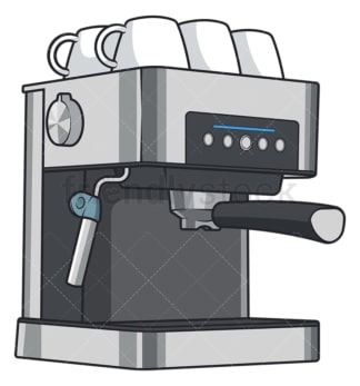 Espresso coffee machine. PNG - JPG and vector EPS file formats (infinitely scalable). Image isolated on transparent background.