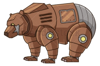 Mechanical bear robot. PNG - JPG and vector EPS (infinitely scalable).