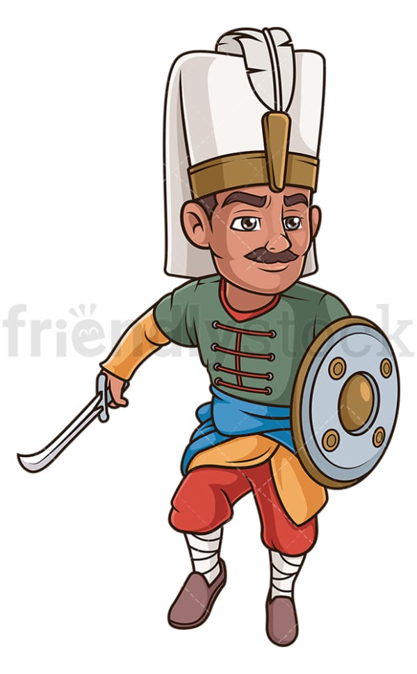 Ottoman elite warrior. PNG - JPG and vector EPS (infinitely scalable).