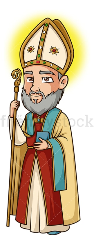 Saint augustine of hippo. PNG - JPG and vector EPS file formats (infinitely scalable). Image isolated on transparent background.