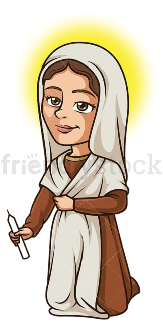 Saint bernadette. PNG - JPG and vector EPS file formats (infinitely scalable). Image isolated on transparent background.