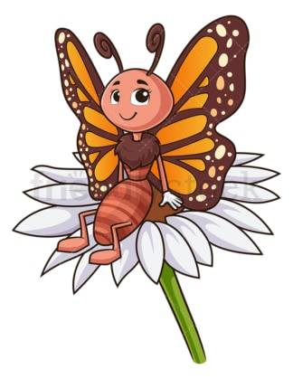 Butterfly on flower. PNG - JPG and vector EPS (infinitely scalable).
