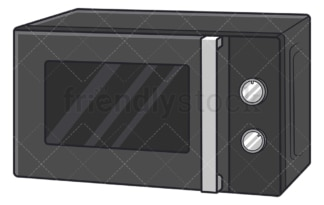Microwave oven. PNG - JPG and vector EPS file formats (infinitely scalable). Image isolated on transparent background.