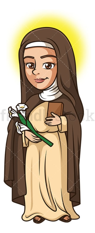 Saint catherine of siena. PNG - JPG and vector EPS file formats (infinitely scalable). Image isolated on transparent background.