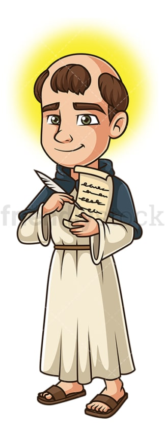 Saint thomas aquinas. PNG - JPG and vector EPS file formats (infinitely scalable). Image isolated on transparent background.