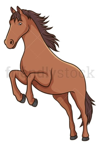 Horse jumping. PNG - JPG and vector EPS (infinitely scalable).