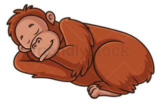 Orangutan sleeping. PNG - JPG and vector EPS (infinitely scalable).