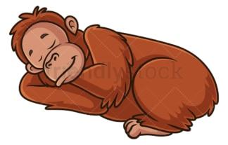 Orangutan sleeping. PNG - JPG and vector EPS (infinitely scalable).
