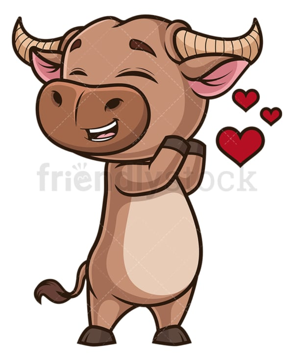 Ox in love. PNG - JPG and vector EPS (infinitely scalable).