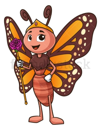 Queen butterfly. PNG - JPG and vector EPS (infinitely scalable).