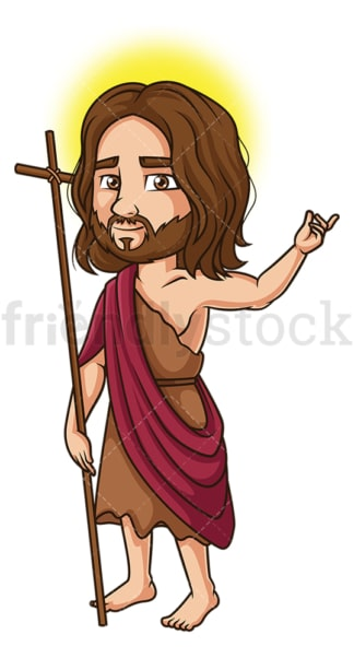 Saint john the baptist. PNG - JPG and vector EPS file formats (infinitely scalable). Image isolated on transparent background.