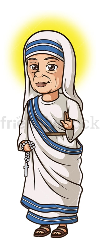 Saint mother teresa. PNG - JPG and vector EPS file formats (infinitely scalable). Image isolated on transparent background.