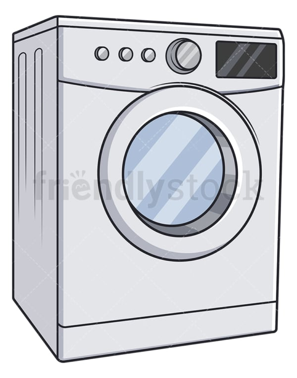 Washing machine. PNG - JPG and vector EPS file formats (infinitely scalable). Image isolated on transparent background.