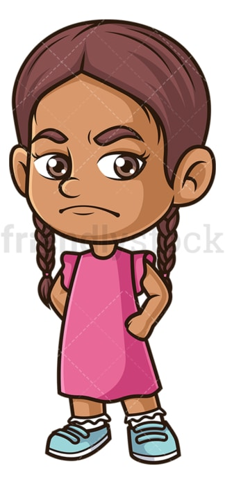 Angry hispanic girl. PNG - JPG and vector EPS (infinitely scalable).