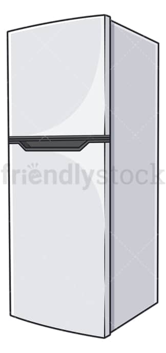 Electric refrigerator. PNG - JPG and vector EPS file formats (infinitely scalable). Image isolated on transparent background.