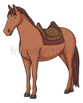 Horse widh saddle. PNG - JPG and vector EPS (infinitely scalable).