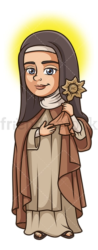 Saint clare. PNG - JPG and vector EPS file formats (infinitely scalable). Image isolated on transparent background.
