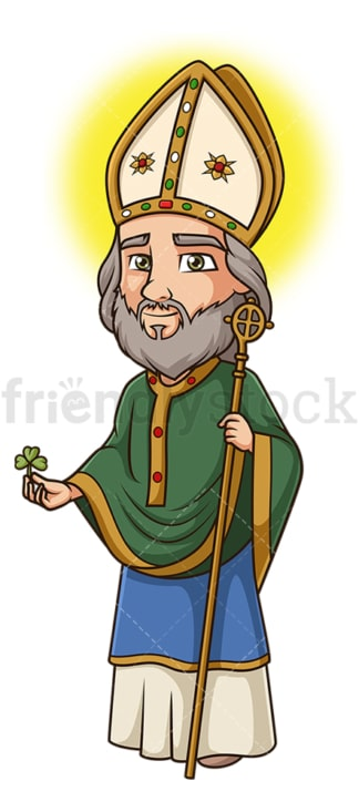 Saint patrick. PNG - JPG and vector EPS file formats (infinitely scalable). Image isolated on transparent background.