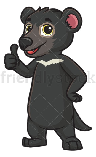 Tasmanian devil thumbs up. PNG - JPG and vector EPS (infinitely scalable).