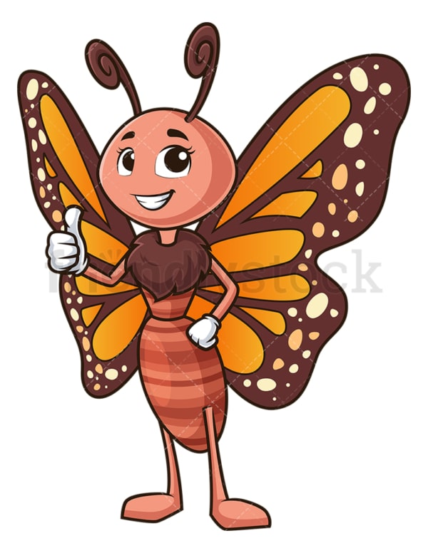 Butterfly thumbs up. PNG - JPG and vector EPS (infinitely scalable).