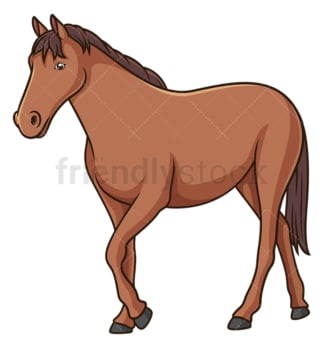 Horse walking. PNG - JPG and vector EPS (infinitely scalable).