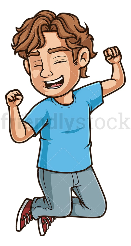 Man jumping for joy. PNG - JPG and vector EPS (infinitely scalable).