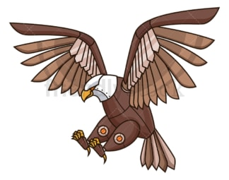Mechanical eagle robot. PNG - JPG and vector EPS (infinitely scalable).