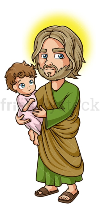 Saint joseph. PNG - JPG and vector EPS file formats (infinitely scalable). Image isolated on transparent background.