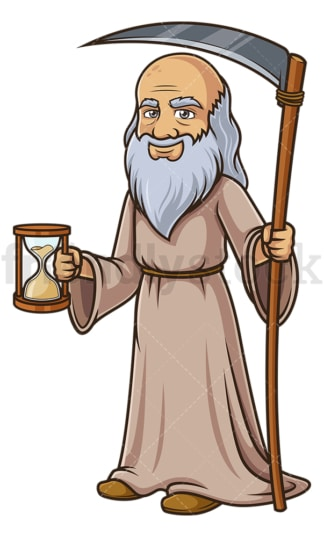 Father time smiling. PNG - JPG and vector EPS (infinitely scalable).