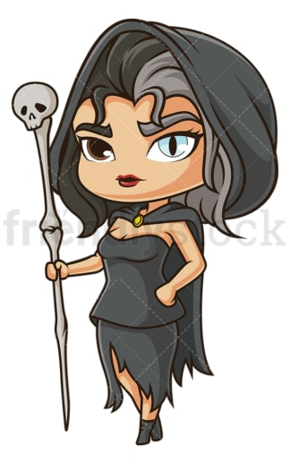 Chibi god hel. PNG - JPG and vector EPS file formats (infinitely scalable). Image isolated on transparent background.
