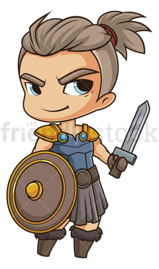 Chibi god vidar. PNG - JPG and vector EPS file formats (infinitely scalable). Image isolated on transparent background.