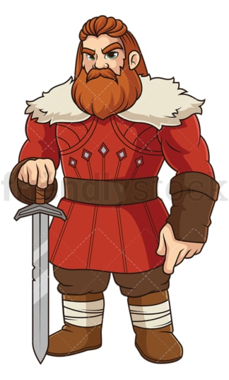 Erik the red. PNG - JPG and vector EPS file formats (infinitely scalable). Image isolated on transparent background.