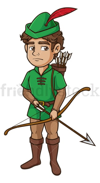 Robin hood on alert. PNG - JPG and vector EPS (infinitely scalable).