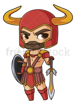 Chibi god heimdall. PNG - JPG and vector EPS file formats (infinitely scalable). Image isolated on transparent background.
