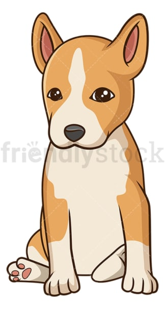 Cute basenji dog puppy. PNG - JPG and vector EPS (infinitely scalable).