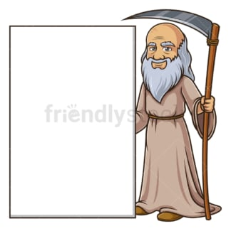 Father time blank sign. PNG - JPG and vector EPS (infinitely scalable).