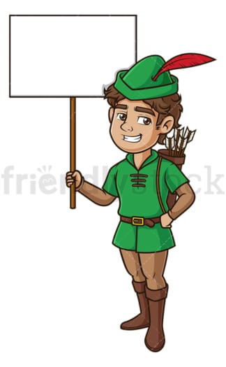 Robin hood blank sign. PNG - JPG and vector EPS (infinitely scalable).