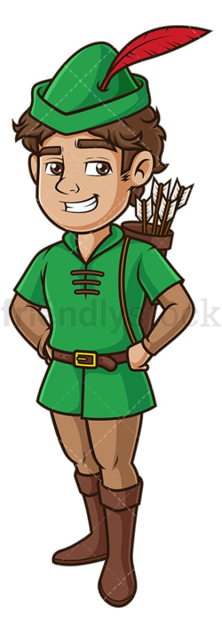 Robin hood standing up. PNG - JPG and vector EPS (infinitely scalable).