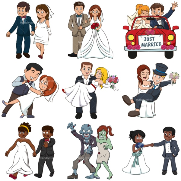 Bride and groom. PNG - JPG and infinitely scalable vector EPS - on white or transparent background.